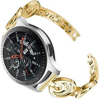 Watch Band,CinhentCrescent Crystal Metal Wrist Strap for Samsung Galaxy Watch 46mm