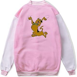 VJJ AIDEAR Scooby-Doo' Baseball Uniform Jacket Sport Coat Kids Long Sleeve Hoodie Hooded Sweatshirt Black