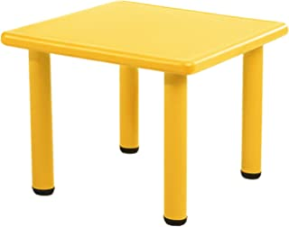 Keezi Kid's Adjustable Square Table in Yellow