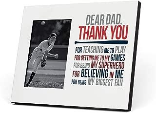 ChalkTalkSPORTS Baseball Photo Frame   Dear Dad Picture Frame   Red-Navy