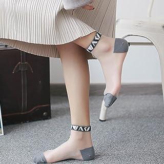 レンコス(Lemcos)レディースファッション 靴下 レディース おしゃれ 柔らかい メッシュ透明 ソックス シルクソックス 超薄型 レース 夏 アンクルソックス