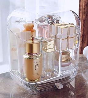 CHOMES Versatile Makeup Brush Holder & Organizer (Pearls Included) - Dustproof & Waterproof Clear Acrylic Cosmetic Storage...