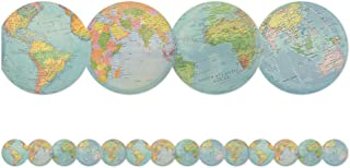 Teacher Created Resources Travel the Map Globes Die-Cut Border Trim