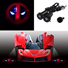 Spoya Deadpool Red Head Symbol Wired CREE 3W LED Car Door Logo Shadow Ghost Light Welcome Courtesy LED Projector Lights