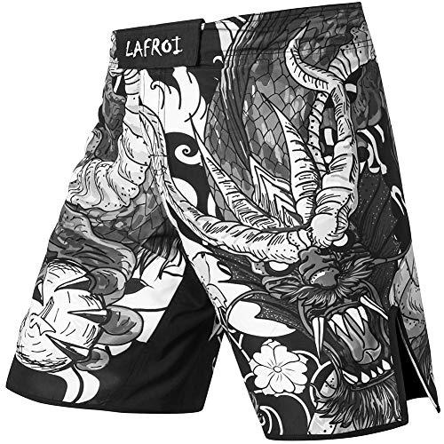 LAFROI QJK01 Pantalones cortos para hombre, con cordón y 1