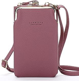 FITSU Kompakte 2 in 1 Smartphone Portemonnaie Umhängetasche, für Damen von New York bis Berlin, in vielen bunten & trendig...