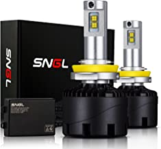 SNGL Super Bright LED Headlight Conversion Kit - Adjustable-Beam Bulbs - H11 (H8, H9) - 110w 12,400Lm - 6000K Bright White - 2 Yr Warranty