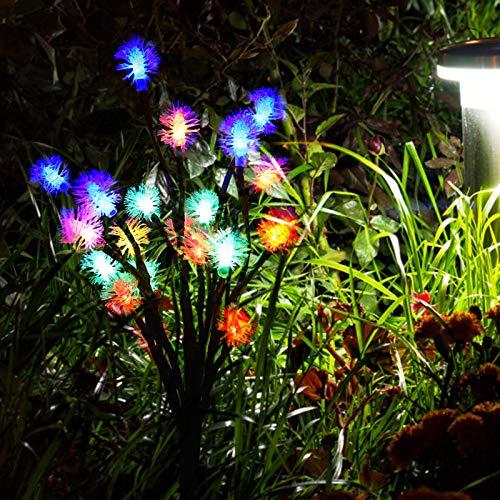 Hoseten Luz de Paisaje, 2 Luces de Camino con energía Solar, Impermeables, de múltiples escenas, Patio para jardín en la acera(IPL)