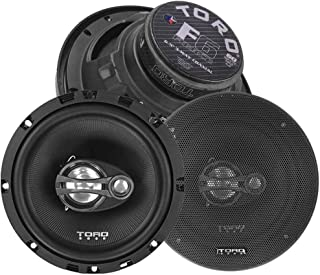 "TORO TECH – F6, 6.5 Inch 3-Way Coaxial Car Speaker Set - 120 Watt MAX / 60 Watts RMS, Ferro Fluid Tweeters, 4 Ohm, 1"" KSV ... photo"