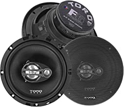 Sponsored Ad - TORO TECH – F6, 6.5 Inch 3-Way Coaxial Car Speaker Set - 120 Watt MAX / 60 Watts RMS, Ferro Fluid Tweeters,... photo