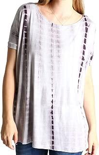 Women's Short Sleeve Top-greytiedye-medium