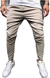 Mogogo Men's Summer Sport Long Pants Relaxed Classic Plaid Joggers Pants
