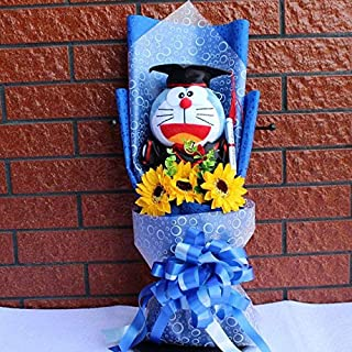 Scallion Lovely Cartoon Stitch Snoopy Plush Doll Toys Snoopy PVC Bouquet Artificial Flowers Valentine's Day Wedding Party Decoration Gift