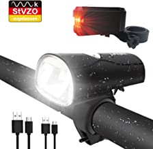 Schwarz LILYTING Wasserdicht Fahrradlicht USB Wiederaufladbare Fahrrad Frontlicht,Fahrradlampe Fahrradbeleuchtung Frontscheinwerfer f/ür Outdoor-Aktivit/äten Radfahren Wandern,f/ür Kinder Erwachsene