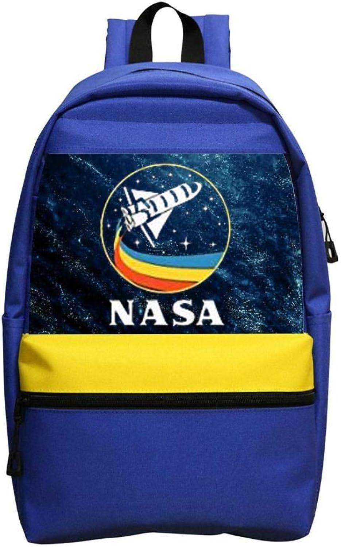 New Trend Retro Rocket NASA Rainbow Oxford Travel Backpack Shoulder Bags