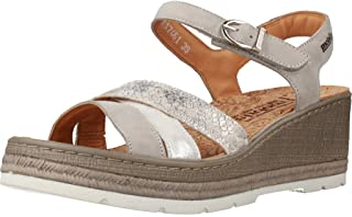 bd53e8c6ee0855 Mephisto Mobils by Benita Women's Wedge Sandals with Amovible Cork Semelle