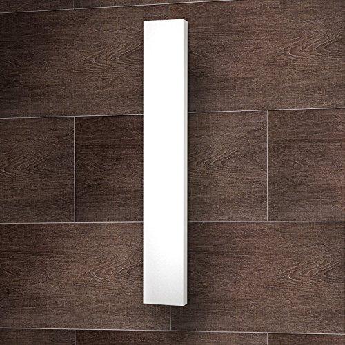 Wohnraum-Heizkörper Milano, Mittelanschluss, 180x45 cm, 805 Watt Leistung, alpin-weiß, Design-Heizkörper für Zweirohrsysteme