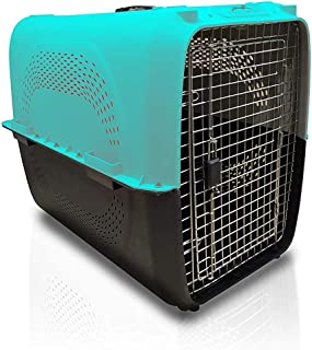 Royale Dog Crate Kennel Dogs Portable Travel Pet Carrier Bed Home Secure (48.5x32x30 cm, Blue)