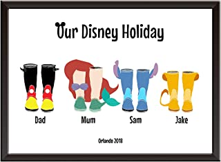 Personalised Welly Family Print/Wellies - Wall art poster