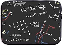 Math Formulas Teacher Funda para portátil de 13-15 Pulgadas - Estuche portátil para Tableta, Resistente al Agua, Negro