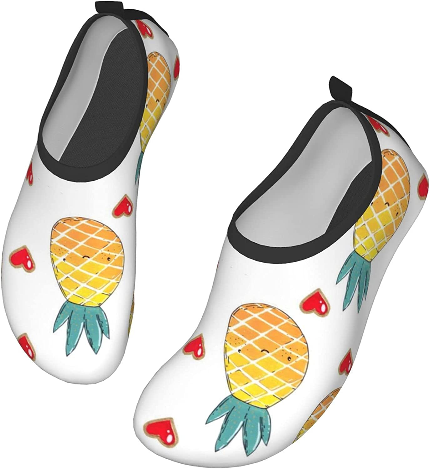 Pineapple Love Wading Shoes Surfing Quick Dry Water Socks Barefoot Shoes for Beach Swim Surf Water Park