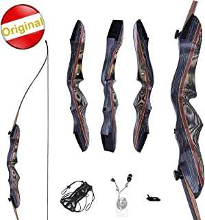 "Knight Traditional KTA Sports WASP Takedown Recurve Bow 62"" Hunting Bow - Draw Weights in 20-60 lbs - Wooden Bow for Beginner to Intermediate User"