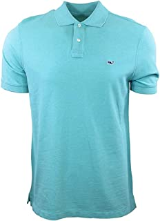 Men's Slim Fit Short Sleeve Pique Polo Shirt - Capri Blue...