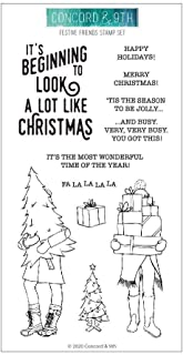 Concord & 9th Clear Stamps 4X8 FSTV FRNDS, Festive Friends, One Size