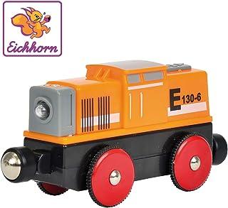 Eichhorn 100001306 - Bahn, Rangier E-Lok 11 cm, mit 4-Radantrieb und vier Funktionen, inkl. Batterien 60 min. Laufzeit