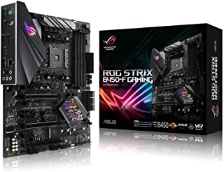 ROG STRIX B450-F Gaming AMD AM4 ATX Gaming Motherboard, DDR4, SATA 6Gbps, HDMI 2.0, dual NVMe M.2, USB 3.1 Gen 2, Aura Syn...