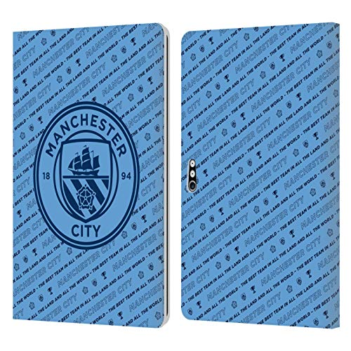 Head Case Designs Officially Licensed Manchester City Man City FC The Best Team Patterns Leather Book Wallet Case Cover Compatible with Microsoft Surface Pro 4/5/6