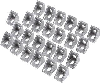 Soporte de esquina 25Pcs 2020 para extrusión de aluminio de 20 mm (polaco opaco)