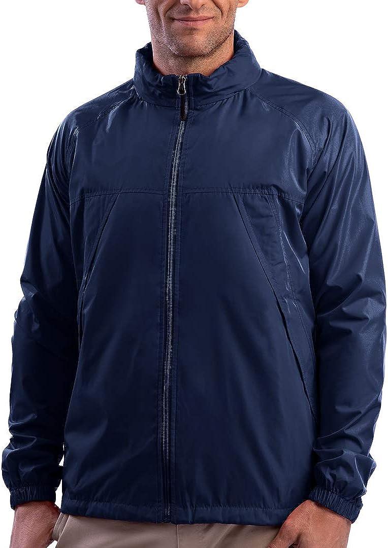 SCOTTeVEST Men's Pack Windbreaker Travel Jacket   19 Pockets   Anti-Pickpocket