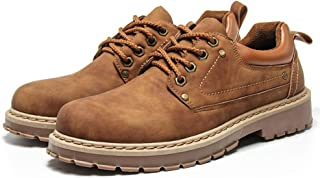 VHBSDINE Men Casual Leather Shoes Winter Waterproof Ankle