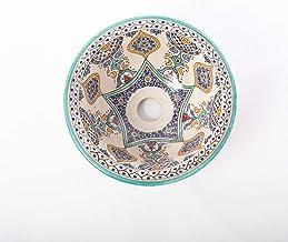 Handgemaakte aardewerk waskom Illizi Oosters motief 32cm