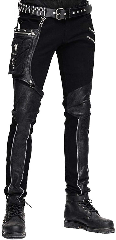 Devil Fashion Casual Pants for Patchwork Ranking TOP19 Trous Straight Nashville-Davidson Mall Men Punk