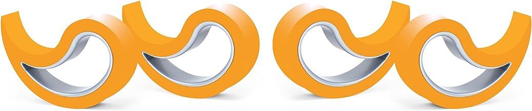 Stoppy, Stopi, raamstopper, deurstopper, deurpaneel, deurhaak, raamklem, set van 4 (verkrijgbaar in 14 kleuren) (oranje)