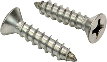 #12 X 1-1/2'' Stainless Flat Head Phillips Wood Screw, (25 pc), 18-8 (304) Stainless Steel Screw by Bolt Dropper