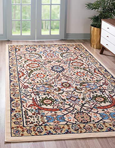 Unique Loom Espahan Collection Classic Traditional Cream Area Rug (8' x 10')