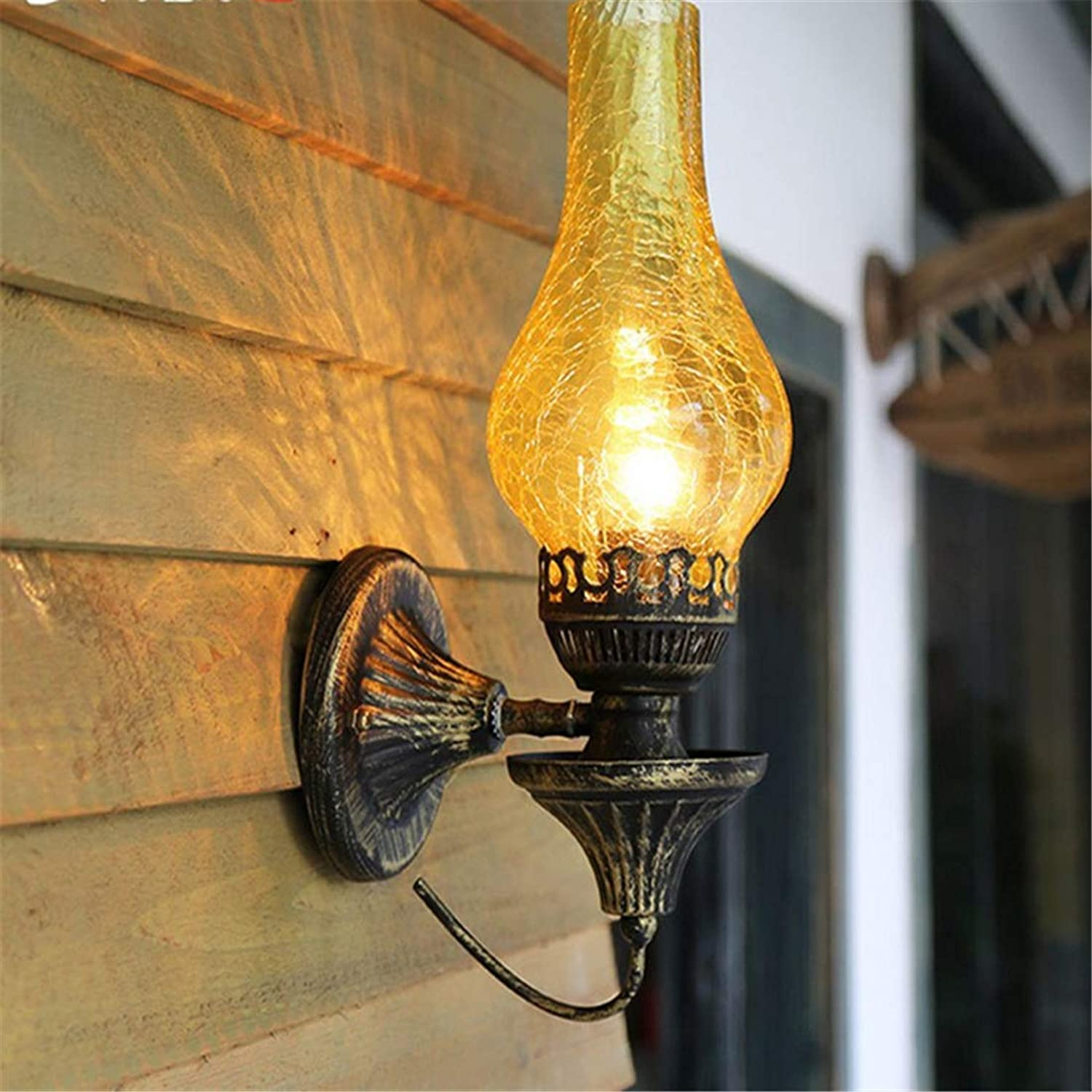 Lichtwall Sconce Wall Lights Living Room American Rustic Bedroom Bedside Lamp Wall Lamp Nordic Living Room Wall Lamps Iron Wall Lights [Energy Class A++]