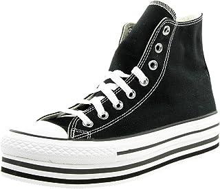 Converse Zapatillas de mujer Chuck CTAS Eva HI 564486C con plataforma, color negro, talla 41,5 EU
