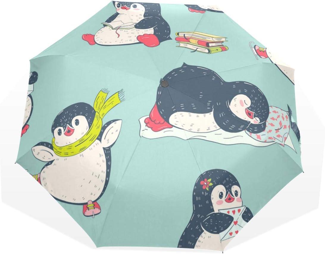 Compact online shopping Folding Umbrella Wholesale Cute Penguin Sun Protable Travel Rain