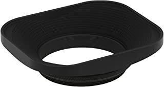 Haoge 43mm スクエアメタルscrew-inレンズフードfor Voigtlander Nokton Classic 35mm f1.4 40mm f/1.4 MC SC VM, Carl Zeiss Biogon T ZM 35mm f2.8 35mm f2, Leica X Typ 113, Leica X Vario Type 107 レンズ 黒
