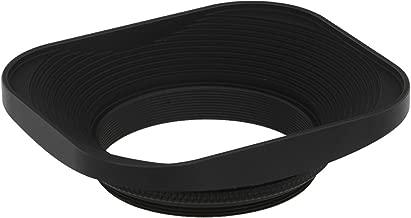 Haoge 43mm Square Metal Screw-in Lens Hood for Voigtlander Nokton Classic 35mm f1.4 40mm f/1.4 MC SC VM, Carl Zeiss Biogon T ZM 35mm f2.8 35mm f2, Leica X Typ 113, Leica X Vario Type 107 Lens
