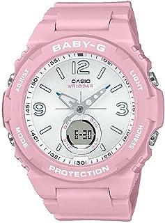 ساعة انالوج بعقارب ورقمية بسوار راتنج للنساء من كاسيو Baby-G - بينك