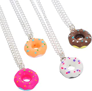 MJartoria 3-16PCS Best Friends Forever Necklaces-Cute Donuts Ice Cream Pendant Friendship BFF Necklaces for 2 for 4 Set
