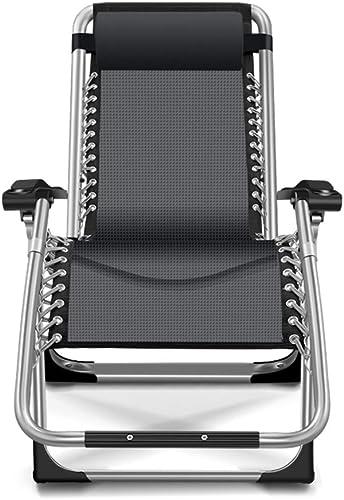 edición limitada en caliente Chair Silla Silla Silla Plegable, sillón reclinable Plegable Silla de Playa Siesta Home Perezoso portátil (165  66  77cm) negro  encuentra tu favorito aquí