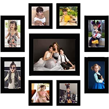 AG Crafts™ Wood Photo Frame (Black, 9 Photos) (Black)