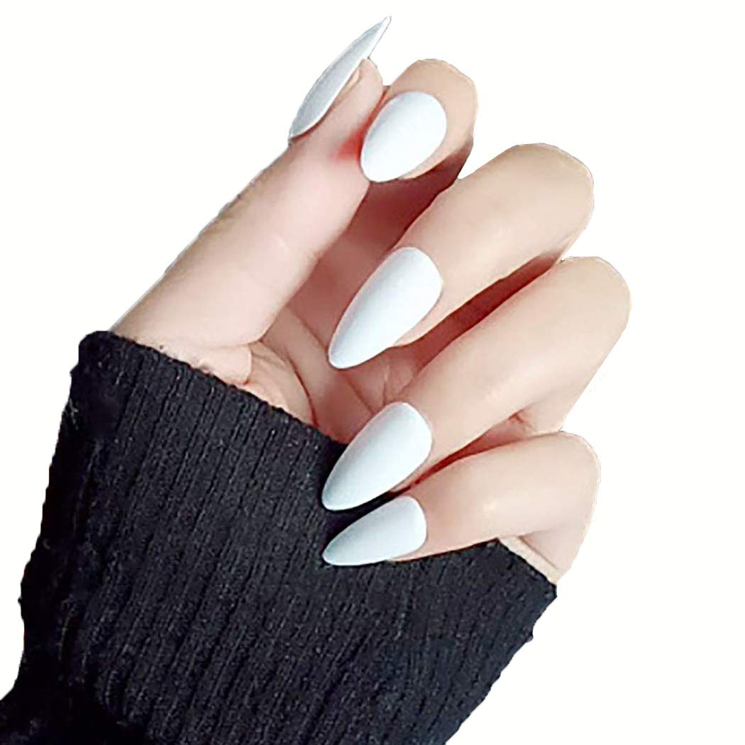 Abien Long Full Cover Fake Surprise price Nails Press Sti White Glossy on 2021 autumn and winter new