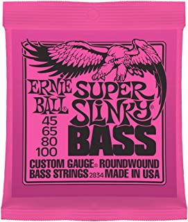 Ernie Ball 2834 Super-Slinky Electric Bass Guitar Strings (45 - 100)